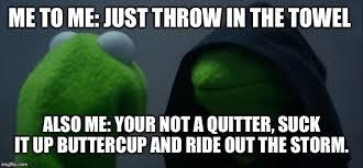 Towel Meme - evil kermit meme imgflip