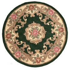 Chinese Aubusson Rugs 120cm Round Pure Wool Chinese Handcrafted Aubusson Rugs In Bottle