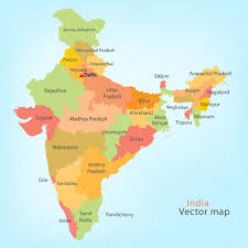 States Of India Map by India Map U2014 Stock Vector Polesnoy 21204565