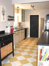 mid century kitchen with checkerboard kitchen and three pendant kitchen design features checkerboard kitchen