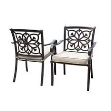 Aluminum Patio Chairs by Allen Roth Atworth 2 Count Brown Wicker Patio Conversation