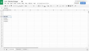 How To Create Spreadsheet Making A Budget Spreadsheet Laobingkaisuo Com