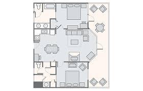 two bedroom cabin floor plans wilderness at big cedar bluegreen vacations