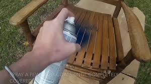 Cracker Barrel Rocking Chair Spray Painting A Cracker Barrel Rocking Chair Youtube