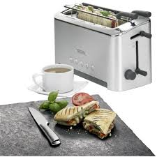 Kenwood Sandwich Toaster Long Slot Toaster Bagel Function With Manual Temperature Settings