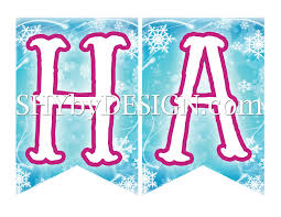 free frozen printable birthday banner shybydesign