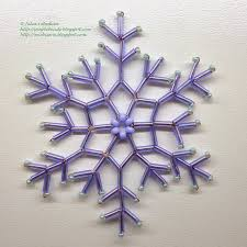 beading for beginners snowflake of bugle beads snowflake