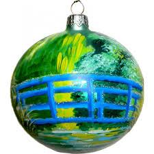 monet s the japanese bridge glass ornament