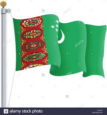 Flag Of Turkmenistan Turkmenistan Bazaar Stock Photos U0026 Turkmenistan Bazaar Stock