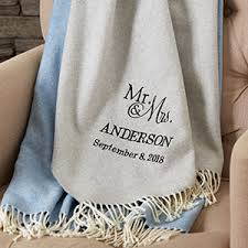 personalized wedding blankets personalized anniversary gifts personalizationmall