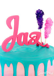 gum paste name cake topper tutorial sweetness u0026 bite