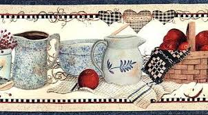 wallpaper borders coffee cups how to make luxuriant kitchen wallpaper borders for your resort