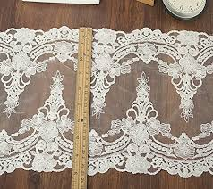 wide lace ribbon 5 yards 9 inch wide lace ribbon vintage embroidered lace trim