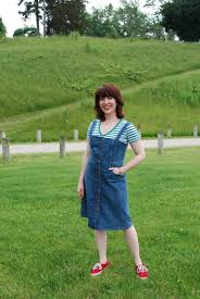 the denim overall dress happy pretty sweet