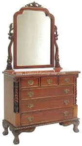 Indonesian Bedroom Furniture by Canopy Dresser 6 Drawer Pillar Bedroom Furniture Indonesian