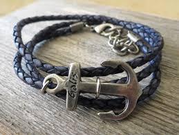 anchor leather bracelet man images Men anchor bracelet men leather bracelet men bracelet men j jpg