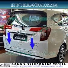Daihatsu Sigra Trunk Lid Cover Chrome list pintu belakang daihatsu sigra list bagasi pintu belakang