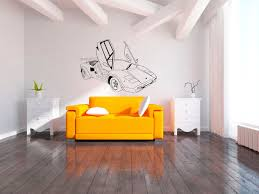 super sports car wall decal boys bedroom giant wall sticker