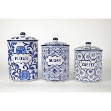 white kitchen canister blue kitchen canisters jars you ll wayfair