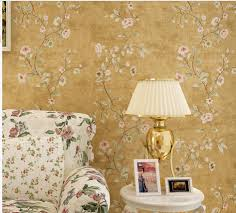 Modern Floral Wallpaper Compare Prices On Yellow Floral Wallpaper Online Shopping Buy Low