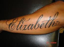 elizabeth name on arm tattoomagz