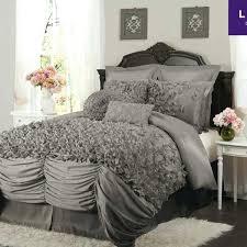 aqua ruffle comforter gray ruffle bedding beautiful aqua blue grey white scroll leaf
