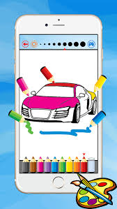 super car coloring book vehicle drawing for kid free game paint