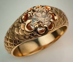 gold color rings images Antique fancy color old european cut diamond gold men 39 s ring at jpeg
