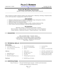Technical Resume Objective Cover Letter Computer Support Technician Resume Computer Support