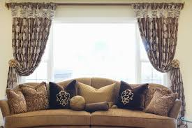 curtains and drapes los angeles bay window treatment ideas