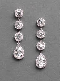wedding earrings drop cz rhinestone earrings drop earrings wedding earrings bridal