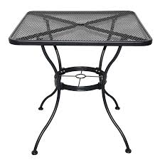 Wrought Iron Bistro Table Shop Garden Treasures Davenport Black Square Patio Bistro Table At