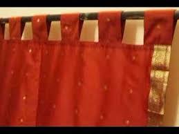 Sari Curtain Tab Top Sari Curtains Srapes Panels Youtube