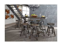 adjustable height bar table liberty furniture pineville 170 b000324 industrial adjustable height