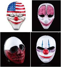 Payday Halloween Costume Payday 2 Game Dallas Chains Hoxton Wolf Cosplay Mask Heist