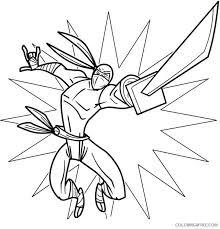 ninja coloring pages katana coloring4free coloring4free