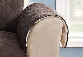 sure fit reversible suede and sherpa furniture cover