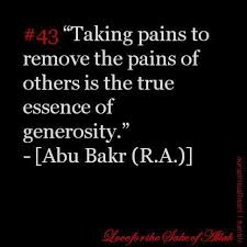 taking pains to remove the pains of others is the true essence of