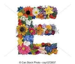 e flowers flower alphabet e letter e made of flowers isolated on