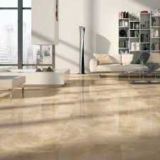 Tile Living Room Floors by Mirage Jewels Encore Opera Beige Marble Look Polished Porcelain