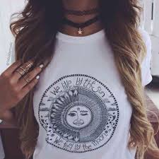 61 tops we live by the sun we feel by the moon shirt from