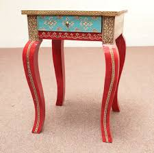Diy Painted Furniture Painted Furniture From India Indian Furniture Handpainted Side