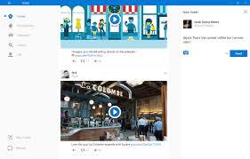 here u0027s how the twitter for windows 10 app will look screenshots