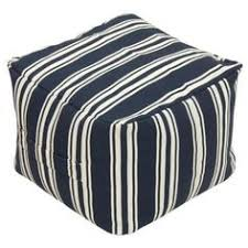 Target Ottoman Pouf Threshold Outdoor Fabric Pouf In Navy Stripe Available At Target