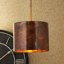 Hammered Copper Pendant Light Hammered Copper Cylinder Pendant Light Shades Of Light