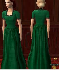 mod the sims old fashioned prairie style solid dresses