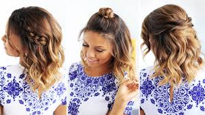 photo cute hairstyles for short straight hair 3 easy hairstyles