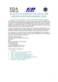 iso 9001 2000 quality systems in the small or medium sized enterpri u2026