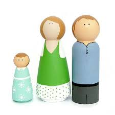 family peg doll craft kit for children by make with mum