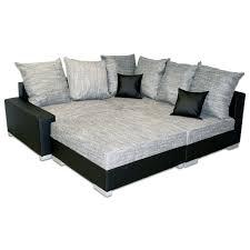 canapé avec pouf canapé angle droit gris et noir avec pouf dya shopping fr